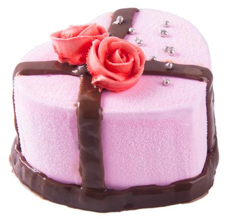 cake, strawberry Ice-cream cake on background photo
