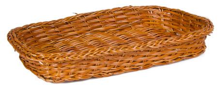 basket. empty wooden basket on a background. photo