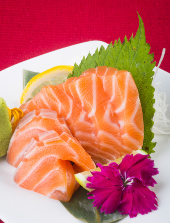 japanese cuisine. sashimi on background photo