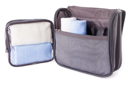 toiletry bag on the background