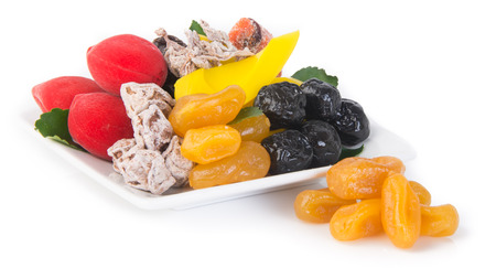 preserved fruits & Dried fruits. Food Snack on Background photo