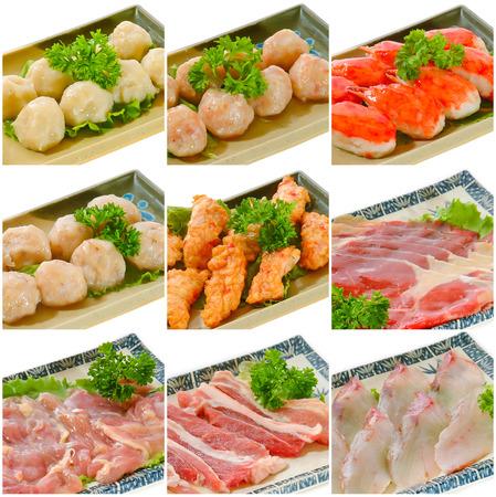 Steamboat collection alimentaire de la nourriture chinoise