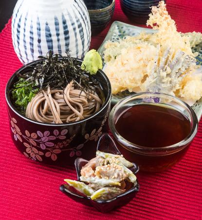 japanese cuisine. udon on background photo