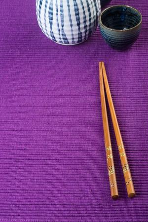 chopsticks. two chopssticks on background photo