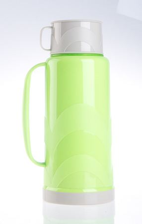 thermo: Thermo, Plastic Thermo flask on the background.