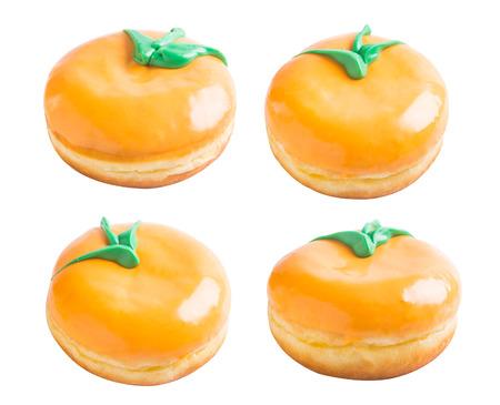 donut. donut orange on a background photo