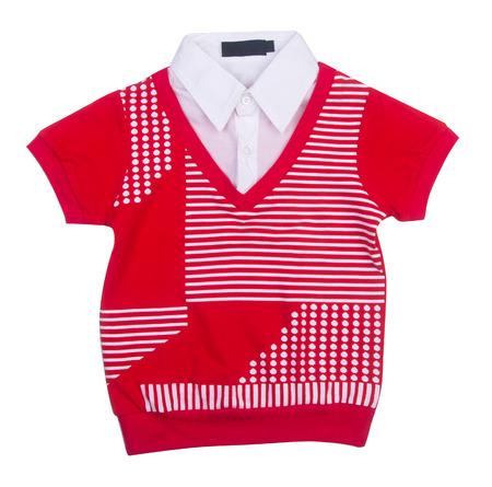 children's wear: shirt. Childrens wear boy on background