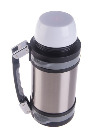thermo: Thermo flask on the background. Stock Photo