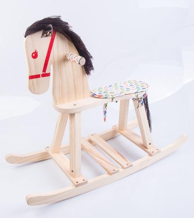rocking horse. rocking horse on background photo