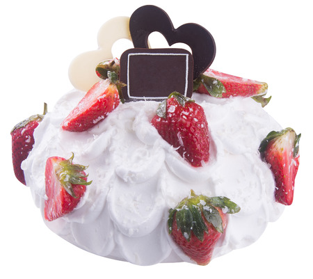 cake. strawberry ice cream cake photo