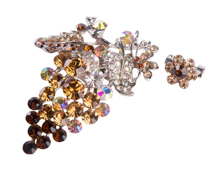 broach: brooch. brooch on the background.
