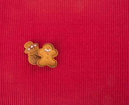 xmas background: Xmas Cookie on the red background Stock Photo