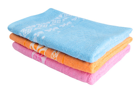 towel  spa  bathroom: towels on white background Stock Photo