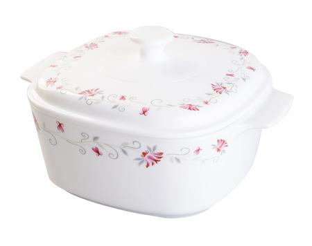casserole: casserole pot on white background Stock Photo