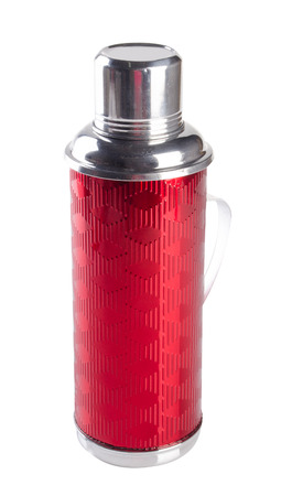 thermo: Thermo flask on white background Stock Photo