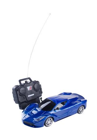 juguetes: control remoto de coches de juguete en el fondo blanco Foto de archivo