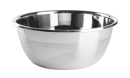 stainless steel pot: stainless steel pot on white background