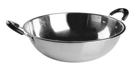 wok: cooking wok on white background