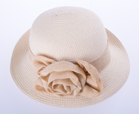 dressy: hat for lady or pretty straw hat with flower