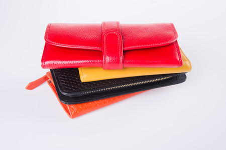 personal accessory: wallet. woman wallet on background