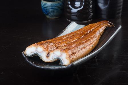 japanese cuisine. unagi or eel on background Archivio Fotografico