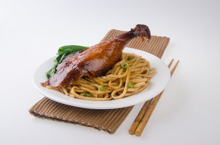 food court: Duck noodle food. asia food Stock Photo