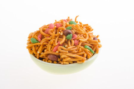 murukku: murukku or traditional indian snack on white background