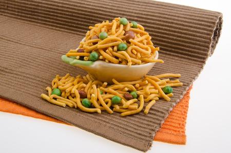 muruku: murukku or traditional indian snack on white background
