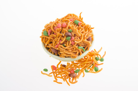 murkoo: murukku or traditional indian snack on white background