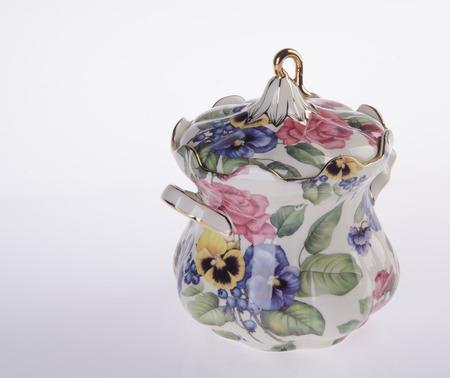 prescribed: Ceramics jar on the white background