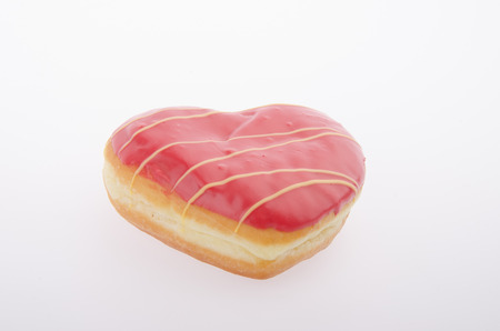 heart shaped: Heart Shaped Pastry on the white background
