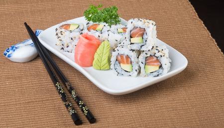 japanese cuisine: japanese cuisine. sushi on background