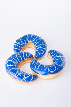 donut shape: donut. moon shape donut on background Stock Photo