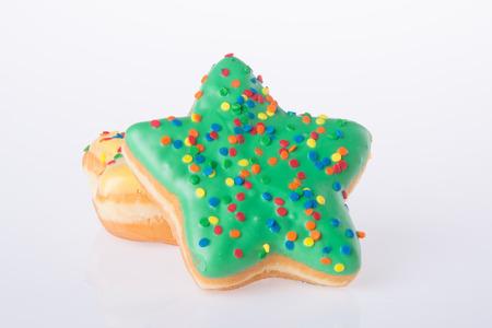 donut shape: donut. star shape donut on background