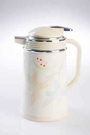 thermo: Thermo flask. Thermo flask on the background Stock Photo