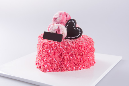 ombre cake: cake, birthday Ice-cream cake on background