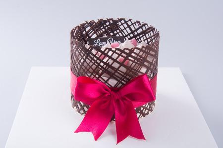 ombre cake: cake, birthday Ice-cream cake on background