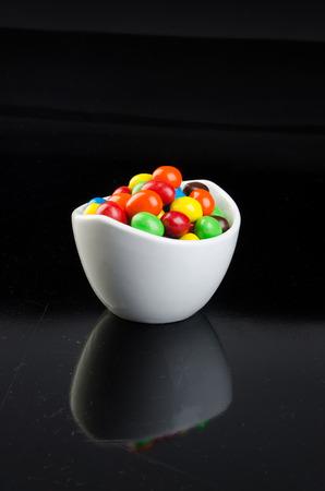 chocolate balls: chocolate balls on a background.