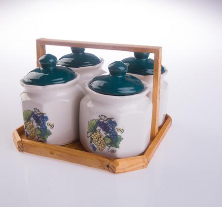 seasoning: Seasoning set, set from kitchen tools. Stock Photo