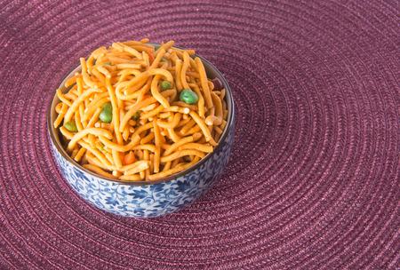 murukku: murukku or traditional indian diwali snacks on background Stock Photo