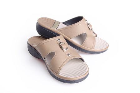 sandal: shoe. woman sandal on background. woman sandal on a background