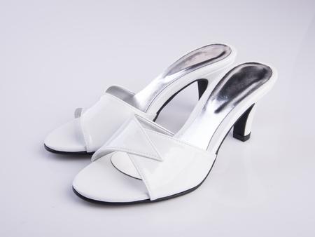 sandalia: shoe or woman sandal on a background
