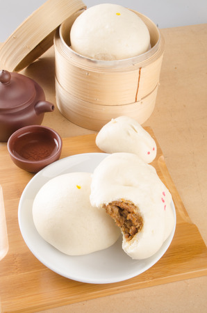 pao or asian buns on a background Stock Photo