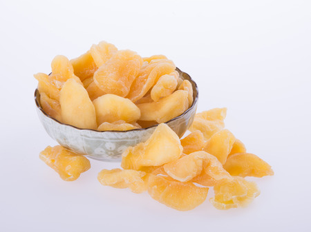 apple dry in bowl or dried apple slices