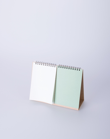 desk calendar: calendar or empty desk calendar on the background