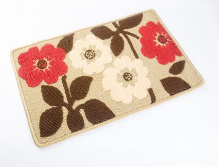 welcome mat: door mat or home door mat on a background