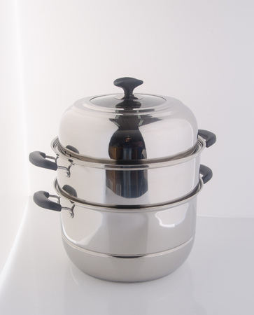 pan or steamer pan on a background