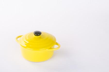 pot or ceramic food pot on a background