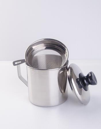 mug or stainless steel mug on background
