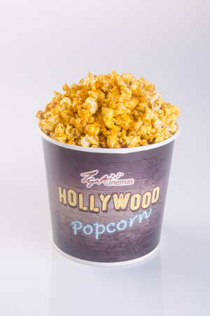 Singapore - 28 January 2016 : tgv cinema hollywood popcorn on the background Editorial